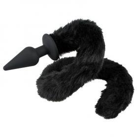 Buttplug met zwarte staart