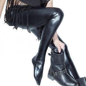 Wetlook legging met voetjes
