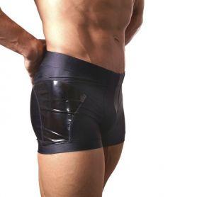 Clubwear short met lak panelen