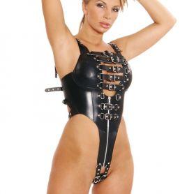 Leren body harnas voor dames
