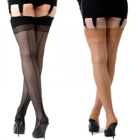 Retro seamed stockings