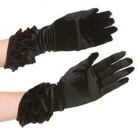 Elastische handschoentjes in satijn look