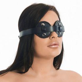 Leren masker met kunstbont