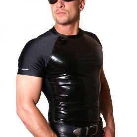 Clubwear shirt met lak front