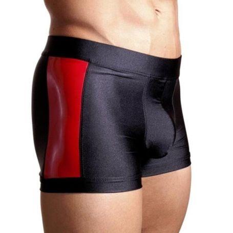 Clubwear short met latex delen