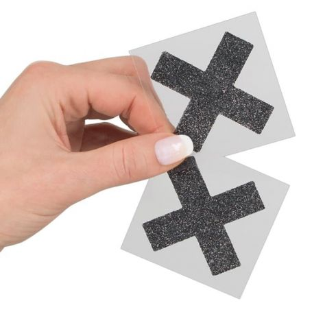 Tepel stickers kruis
