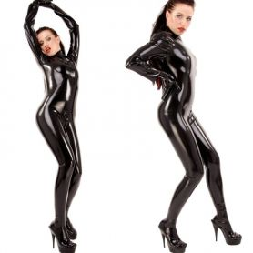 Latex catsuit strak