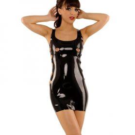 Latex jurkje met openingen