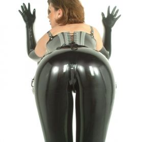 Latex legging met ritsje