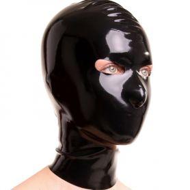 Latex masker met gesloten mond en rits