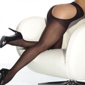 Zwarte panty die de billen vrij laat