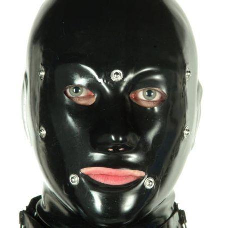 Latex bondage masker heren