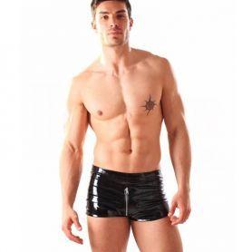 Zwarte lak boxer met rits