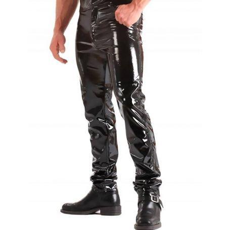 Lak broek met steek en kont zakken