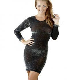 Zwart jurkje met zilver glitters