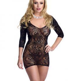 Zwart jurkje met driekwart mouw