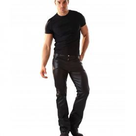 Vegan lederen jeans 501