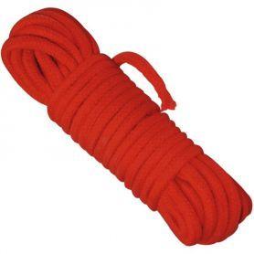 Rood katoenen bondage touw 10 meter