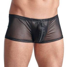 Glanzende zwarte short met rits