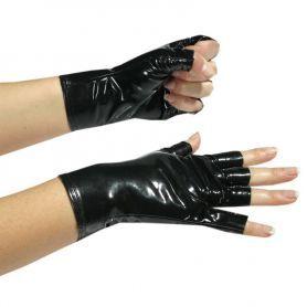 Lak handschoentjes zonder vingertoppen