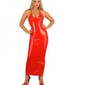 Lak jurk met spaghettibandjes