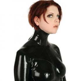 Latex hals korset