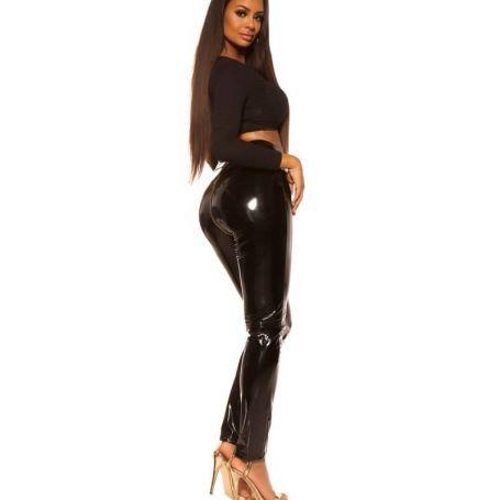 Zwarte legging met rits achter