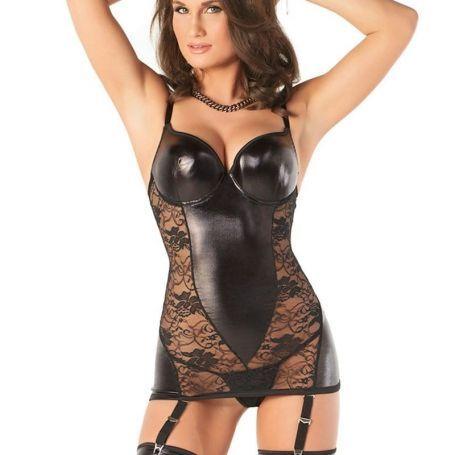 Wetlook corselet