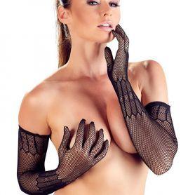 Lange net handschoenen