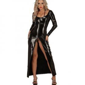 Lak jurk met lange split