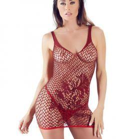 Mouwloos bordeaux rood jurkje