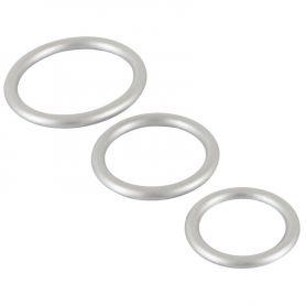 Metallic cock ring set