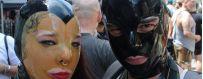 Latex maskers voor dames en heren