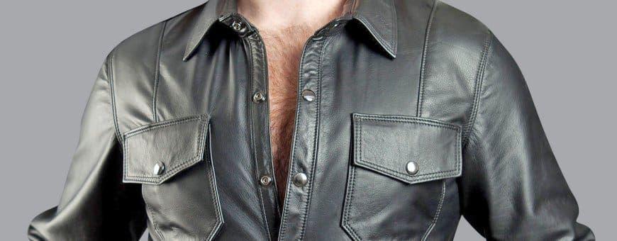 Leren heren shirt bestellen | Kleur en voering keuze