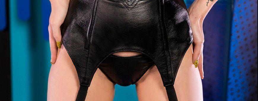Leren jarretelgordels | Uitgereide collectie lederen dames lingerie